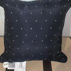 Macys navy pillow with rhinestones
